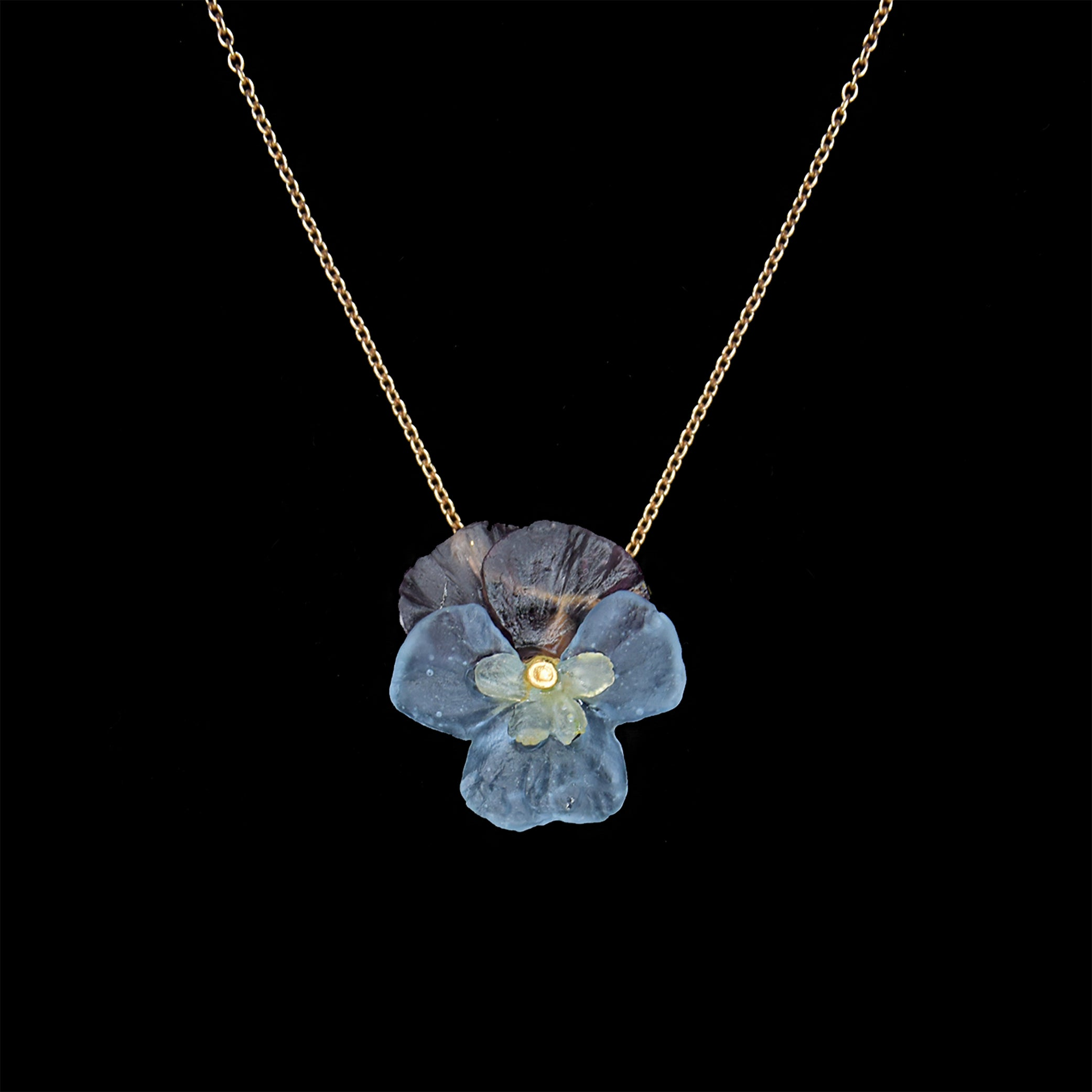 Pansies Pendant - Flower
