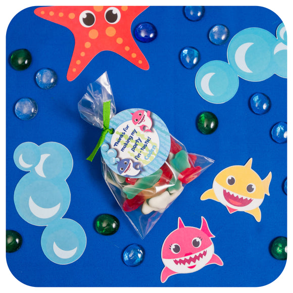 Baby Shark Party Bag Tags Editable Printable PDF