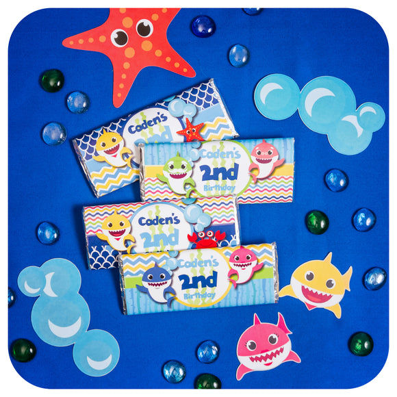 Baby Shark Candy Bar Wrappers Editable Printable PDF