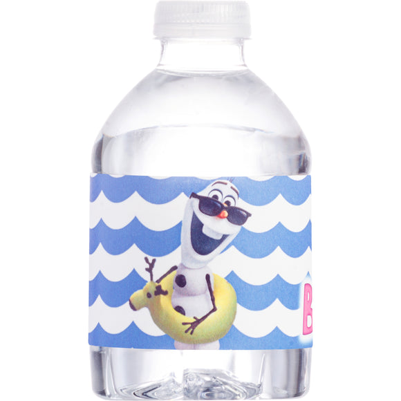 Frozen Girly Olaf Summer Water Bottle Wrappers