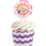 Frozen Girly Olaf Summer Cupcake Wrappers and Toppers