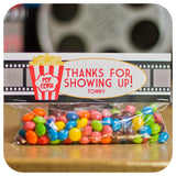 Movie Night Favor Bag Toppers Printable PDF