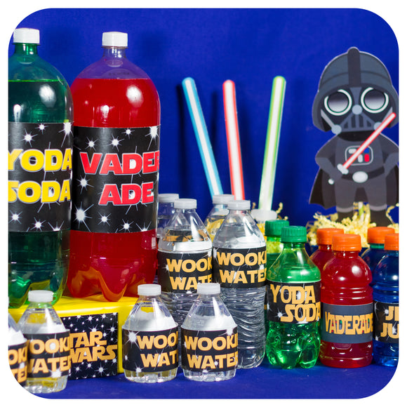 Star Wars Bottle Wrappers Printable PDF