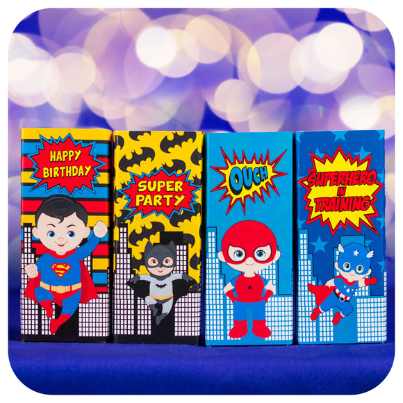 Superhero Juice Box Wrappers