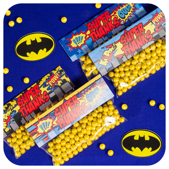 Superhero Favor Bag Toppers