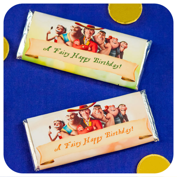 Pirate Fairy Candy Bar Wrappers