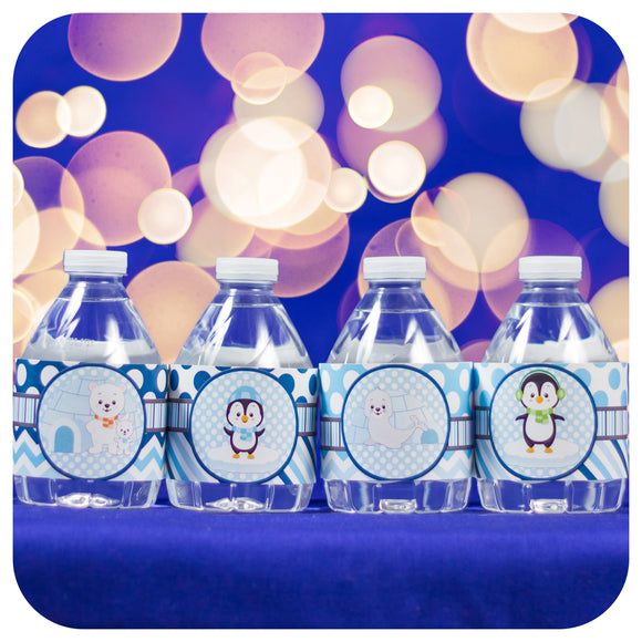 Winter Onederland Water Bottle Wrappers Printable PDF