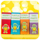Teenage Mutant Ninja Turtle Juice Box Wrappers Printable PDF