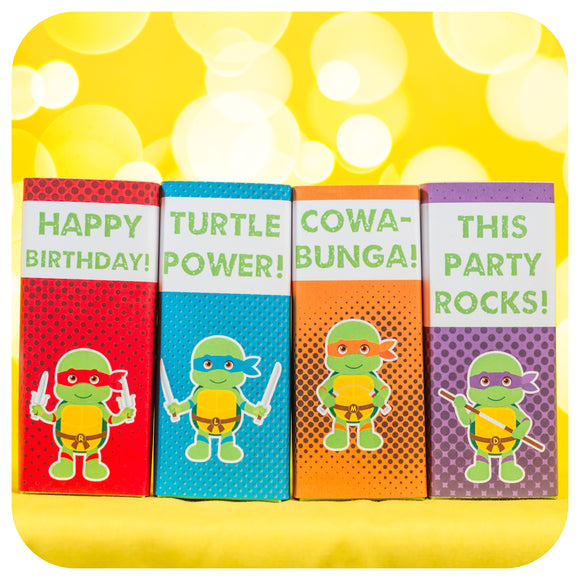 Teenage Mutant Ninja Turtle Juice Box Wrappers