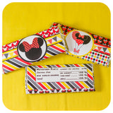 Minnie Mouse Candy Bar Wrappers Printable PDF