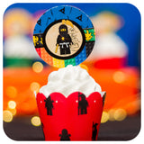 Lego Ninjago Cupcake Wrappers and Toppers Printable PDF