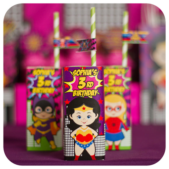 Supergirl Juice Box Wrappers