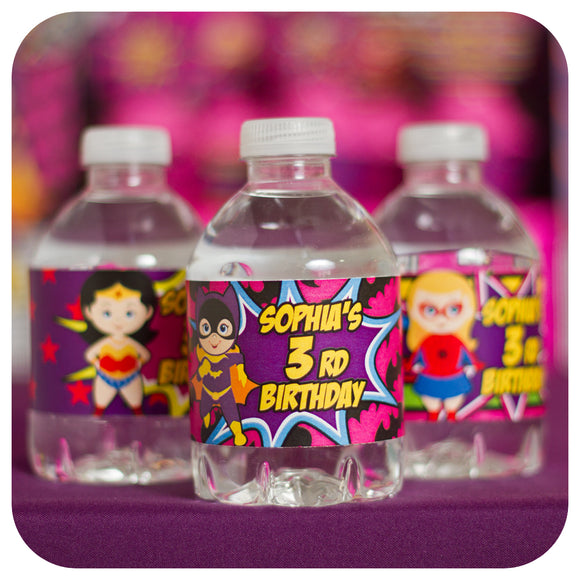 Supergirl Water Bottle Wrappers