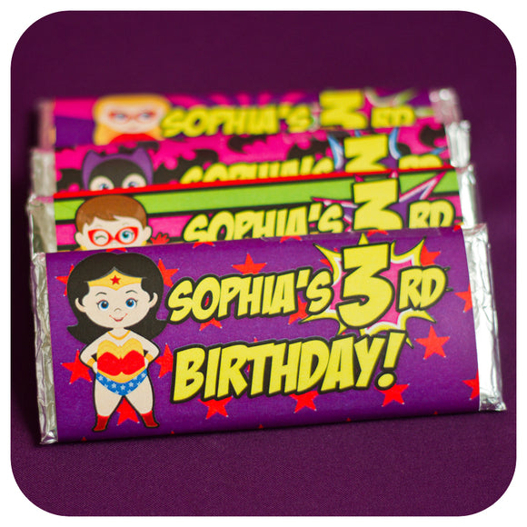 Supergirl Candy Bar Wrappers