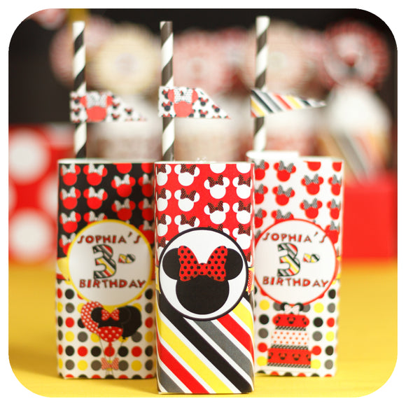 Minnie Mouse Red Juice Box Wrappers