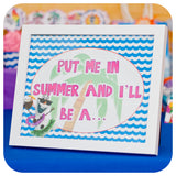 Frozen Girly Olaf Summer Signs