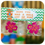 Hawaiian Luau Favor Bag Toppers