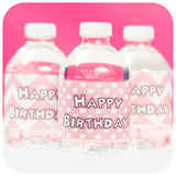 Minnie Mouse Pink Water Bottle Wrappers
