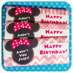 Minnie Mouse Pink Candy Bar Wrappers
