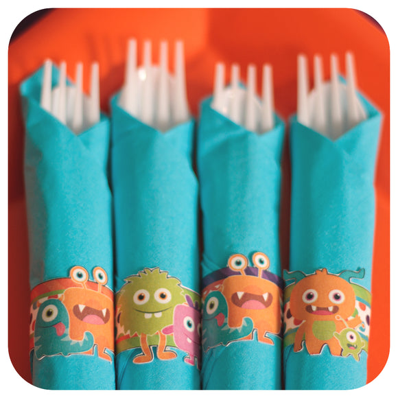 Little Monsters Napkin Rings Printable PDF