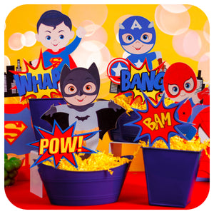Superhero Centerpieces Printable PDF