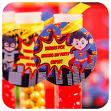 Superhero Party Bag Tags Editable Printable PDF