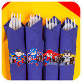 Superhero Napkin Rings Printable PDF