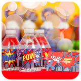 Superhero Food Tent Labels Printable PDF