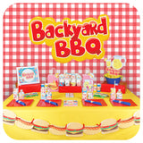 Backyard BBQ Party Napkin Rings Printable PDF