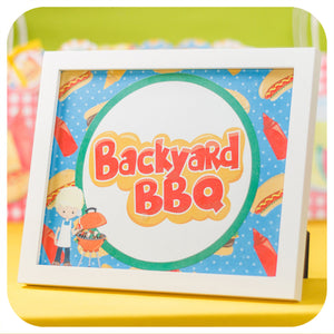 Backyard BBQ Signs Printable PDF