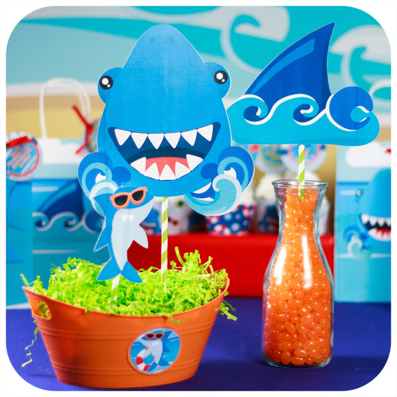 Shark Centerpieces Printable PDF