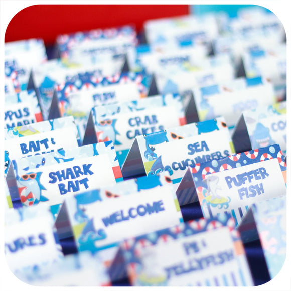 Shark Food Tent Labels Printable PDF
