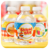 Backyard BBQ Water Bottle Wrappers Printable PDF