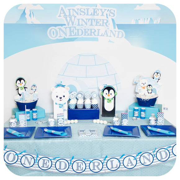 Winter Onederland Party Package Printable PDF