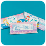 Mermaid Candy Bar Wrappers Printable PDF