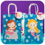 Mermaid Gift Bag Printable PDF