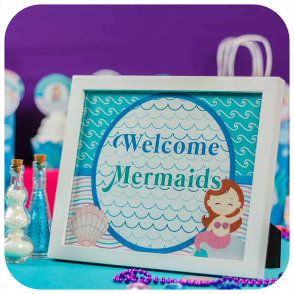 Mermaid Signs Printable PDF