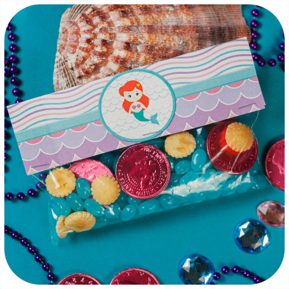 Mermaid Favor Bag Toppers Printable PDF