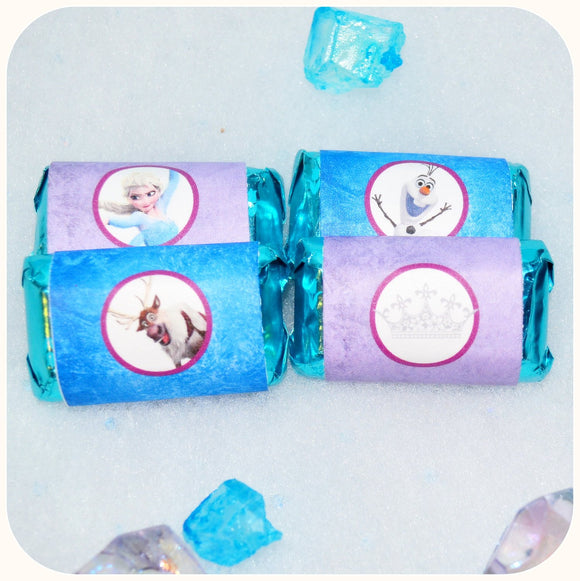 Frozen Miniature Candy Bar Wrappers