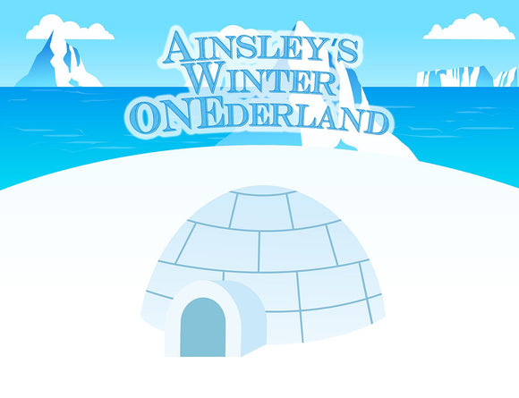Winter Onederland Background Printable JPEG