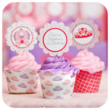 Pretty Princess Cupcake Wrappers and Toppers