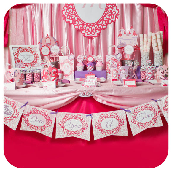 Pretty Princess Deluxe Garland Banner