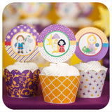 Tangled Cupcake Wrappers  & Toppers Printable PDF