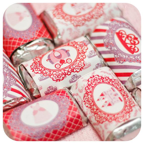 Pretty Princess Miniature Candy Bar Wrappers