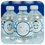 Winter Onederland Water Bottle Wrappers