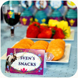 Frozen Coronation Day Food Tent Labels