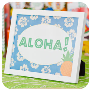 Hawaiian Luau Signs