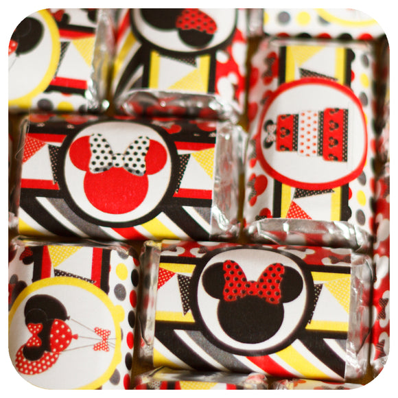 Minnie Mouse Red Miniature Candy Bar Wrappers