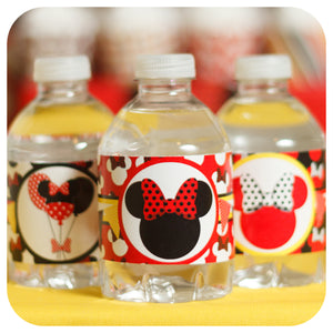 Minnie Mouse Red Water Bottle Wrappers
