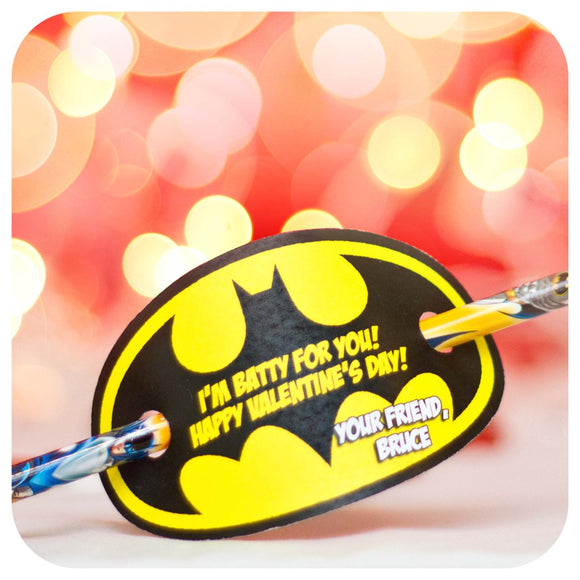 Batman Valentines Printable PDF